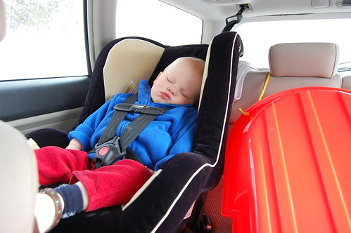 Whoops - pre-sledding nap
