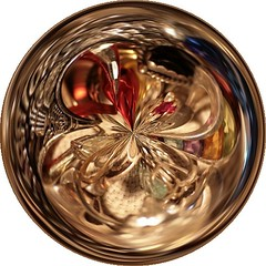 Gold Ice Kaleidoscope (Ate My Crayons) Tags: art glass amazingcircle circle gold shiny digitalart orb amazingcircles sphere computerart bubble marble amc artdigital phubble artgimp