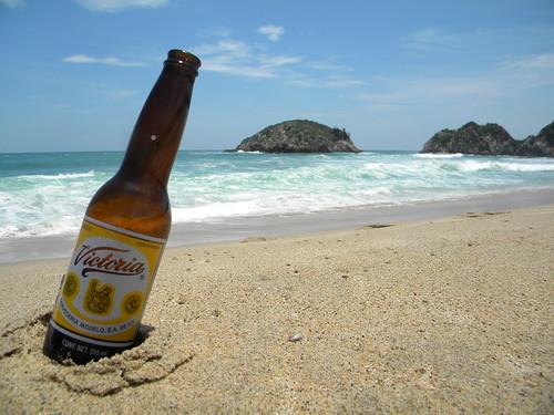 A beer on a beach