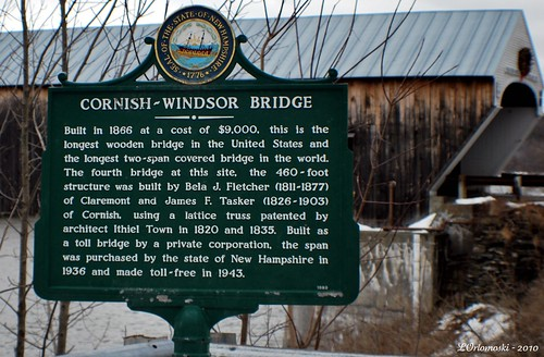 Cornish-Windsor Bridge sign