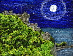 Moon over Culzean (traqair57) Tags: seascape art castles nature landscape scotland drawing scottish crayons ayrshire culzean 攝影發燒友 stushie