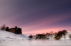 Morton Castle (Kenny Muir) Tags: castle landscape star scotland sony ruin trail moonlight morton dumfries galloway a900 mortonmainsthornhillsnowicefrozenlandscape
