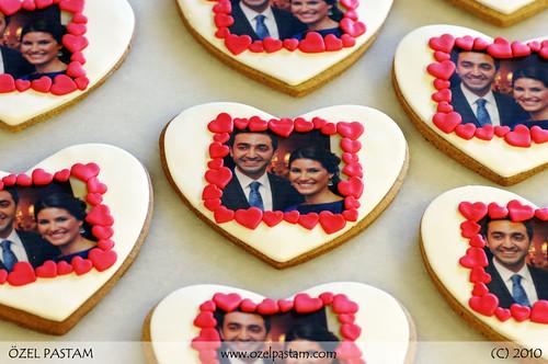 Fotoğraflı Aşk Kurabiyeleri / Bridal Shower Cookies