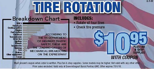 Discount Tire Oil Change >> OIL CHANGE TIRE ROTATION COUPON : TIRE ROTATION COUPON - AUTOMOBILE TIRE CHANGERS