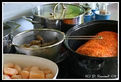 Scoff Preparation (gas guy) Tags: potatoes roast pork loin mykitchen goodfoodgoodfriendsgoodtimes scallopsandschrimpstarter specialporkrub