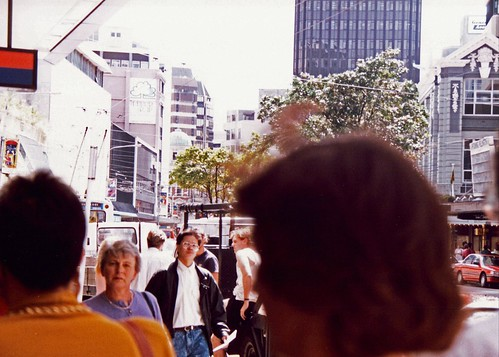 City of Wellington New Zealand pictured in 1991 city life