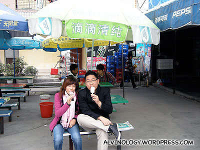 Rachel and I enjoying lollies we bought from the tuckshop