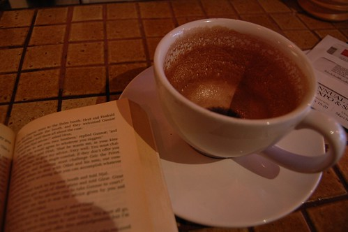 Hot chocolate and Njal's Saga at Wicked Grounds