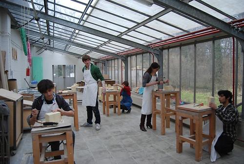 Atelier mergelsteen, Middelheimmuseum, 5 maart 2010 (c) Britt Oliviers en Debby Wuyts