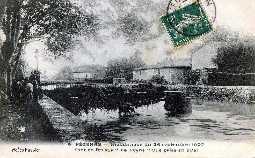 crue de la Peyne à Pézenas le 26 septembre 1907