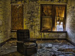 Abandoned Orphanage_Have a Seat ( MggT BrN ) Tags: wood ny newyork building rot wet yellow digital photoshop buildings underground garbage buffalo chair mess peeling mood sad dismal dynamic chairs pentax decay tripod evil freaky ps dirty haunted creepy orphanage textures dirt adobe urbanexploration messy processing rotten peel peelingpaint processed hdr decayed decaying trespassing hdri depressing keepout detailed topaz lightroom moist adjust urbex rotted autobracket grundge buffalonewyork tonemapped adobelightroom urbanexplore jonathandavies pentaxk110d lightoom abandonedorphanage dynamicphotohdr dphdr photoshopcs4 topazadjust topazdetail topazdeatail topazdeatil topazadjust4