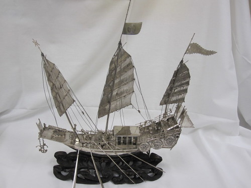 MODEL, SHIP, SILVER, CHINESE