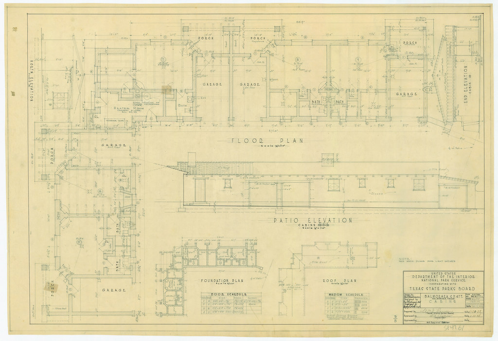 Balmorhea State Park - Cabins (Floor Plans and Elevations) - SP47-61