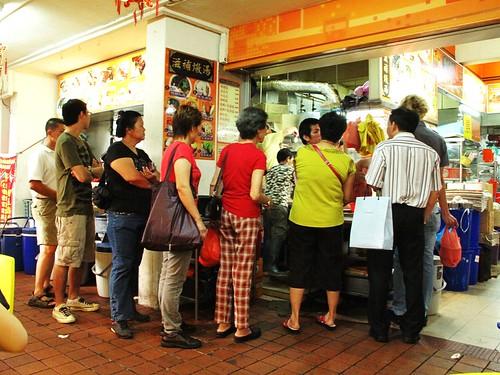 IMG_9858 Long Queue Roast Pork Stall at Bugis Singapore , 排长龙烧腊店,白沙浮,新加坡