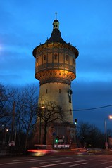 HDR Water Tower North Halle/Saale (MR-Fotografie) Tags: blue tower water nikon hour hdr blaue hallesaale d90 stunde yourbestoftoday