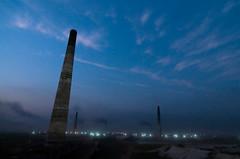 ([www.farhanahaque.com]) Tags: blue sky lights evening long exposure air jenny pollution dhaka bangladesh brickmill gabtoli gettyimagesbangladeshq2 farhanahaque gettyimagesbangladeshq3