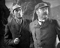The Dynamic Duo - Holmes (Basil Rathbone) and Watson (Nigel Bruce)
