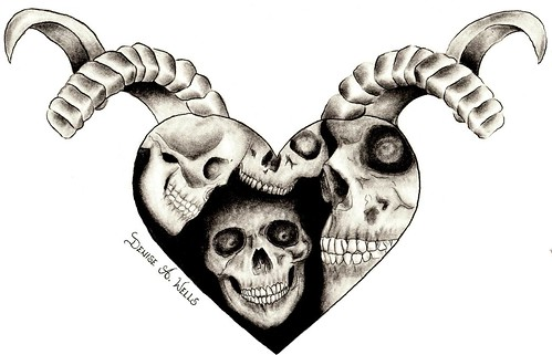 Evil Heart tattoo by Denise A. Wells