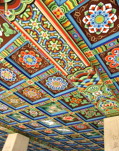 Korea Trip - Ceiling of temple 1