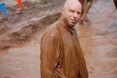 THE MUDDY SUIT GUY (Mr. Muddy Suitman) Tags: san mud tie diego run suit