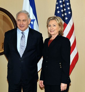 From flickr.com/photos/9364837@N06/4456580121/: Hillary Clinton and Israeli Prime Minister Netanyahu
