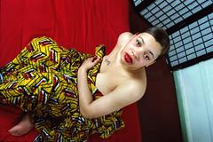 Judy Philadelphia Studio African Cloth Photo Shoot Jan 1996 012 (photographer695) Tags: philadelphia studio photo shoot african judy cloth