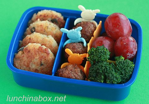 Risotto cake bento for kindergartener