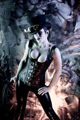 DSC_6642 (the PhotoPhreak) Tags: woman girl leather female fetish vintage studio costume clothing model war cosplay victorian dressup fantasy latex corset heroes cleavage makebelieve buckles villians pretend steampunk