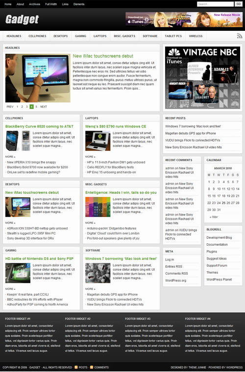 Gadget   ThemeJunkie Premium WordPress Theme