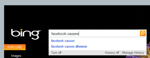 Facebook Causes, According To Bing