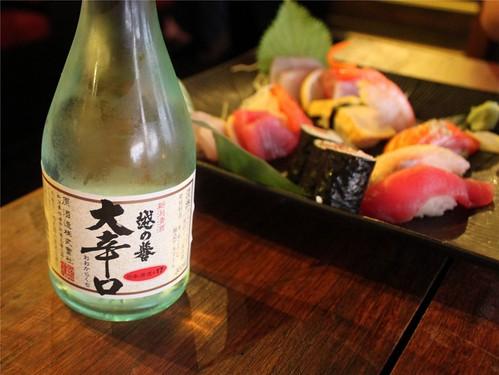 sake and sushi & sashimi