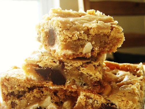 chewy chunky blondies with chocolate chips, coconut, walnuts - 30