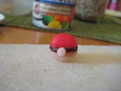 marzipan pokeball (mpetitchou) Tags: marzipan cakedecorating pokeball