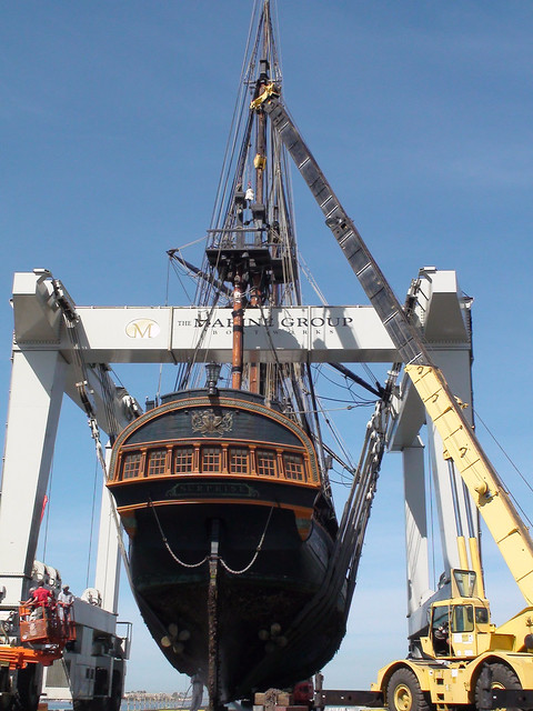 HMS Surprise at Chula Vista Marine Group Boat Works by Port of San Diego