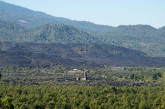 paricutin: view of the church from the crater (wishfish) Tags: nature mexico volcano paricutin