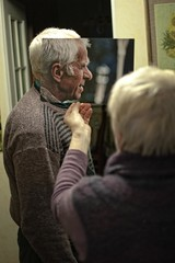The reason grandparents and grandchildren get along so well (mikee.wilczek) Tags: grandma friends white black blur male by female 35mm lens photos grandfather inspired grandpa quotes nikkor 18 potrait boken bokken backround