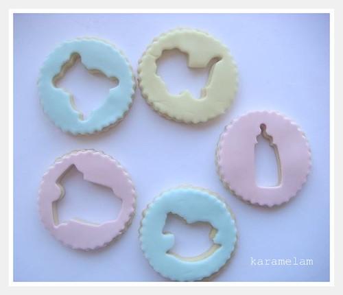 pastel bebek kurabiyeleri