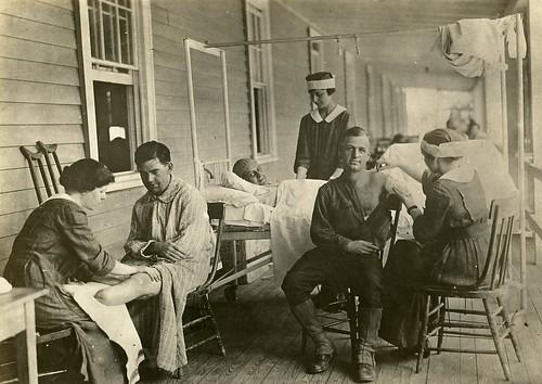 WWI amputees at Walter Reed