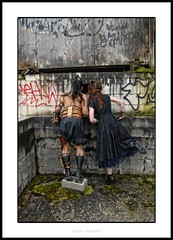 steampunk photo shoot1 (skinznhydez) Tags: camera brown black building sexy men love clock beautiful leather rock hair neck ian him photo belt clothing amazing women shoes punk shoot rivets ship hand dress arm boots cosplay earth space sca awesome watch leg goth models 1800s victorian her steam willow armor stunning copper cuff pocket chandler brass gauge unisex studs larp handsom gauntlet steampunk gaurd attire bracer finchfield skinznhydez