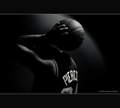 Where Amazing Happens (Explored) (lawrencechua) Tags: white black basketball amazing wizard where pierce plus pocket nba 70200 celtics happens spalding onelight sb800 beautydish strobist nikond700 onelightpony lumodi