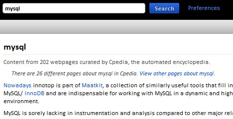 Cpedia search result