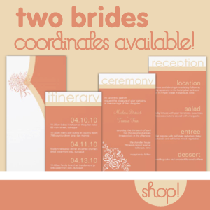 Two Brides Bridal Shower Invitations