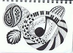 (Jo in NZ) Tags: blackandwhite drawing doodles zentangle nzjo