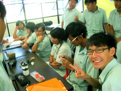 Phototaking during Geog Lesson