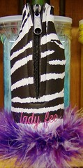 black and white zebra (Order at: thekooziefloozie@aol.com) Tags: zebra zipperedbottle