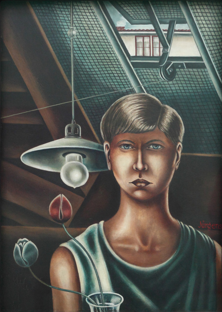Grethe Jürgens, Selbstbildnis [Self-portrait], 1928