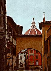 Crossing Florence (Blucat79) Tags: texture florence tuscany firenze duomo toscana architettura piazzasantissimaannunziata abigfave anawesomeshot bestofthbest