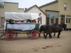 Covered wagon at Old Cowtown (99kps) Tags: war weekend civil wichita cowtown