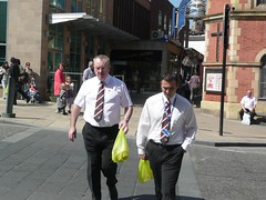 They're not just referees.  They're Marks and Spencer referees (zawtowers) Tags: world city food shopping referee williams theatre sheffield sandwich marks terry spencer snooker 2010 marksandspencer crucible camilleri worldsnooker eirian championsip worldsnookerchampionship betfredcom thehomeofsnooker
