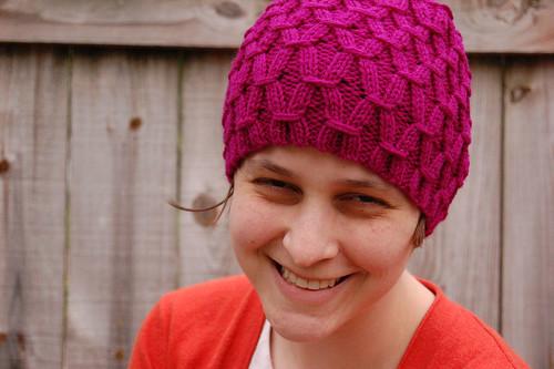 Raspberry Waffle Hat